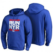 Mens New York Rangers Royal RUN-CTY Pullover Hoodie