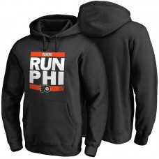 Mens Philadelphia Flyers Black RUN-CTY Pullover Hoodie
