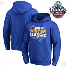 2017 Winter Classic Mens St. Louis Blues Royal Pullover Hoodie