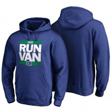 Mens Vancouver Canucks Royal RUN-CTY Pullover Hoodie