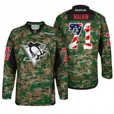 Military Appreciation Premier Pittsburgh Penguins #71 Evgeni Malkin Camo Jersey