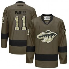 Minnesota Wild Zach Parise #11 Green Camo Player Jersey