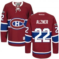 Montreal Canadiens #22 Karl Alzner Red Anniversary Patch Reebok Home Premier Jersey