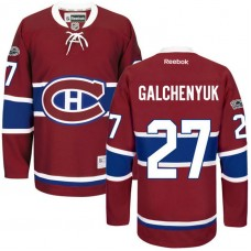 Montreal Canadiens #27 Alex Galchenyuk Red Anniversary Patch Reebok Home Premier Jersey
