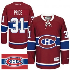 Montreal Canadiens #31 Carey Price Red Home Premier Jersey