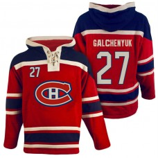 Montreal Canadiens #27 Alex Galchenyuk Red Throwback Pullover Hoodie