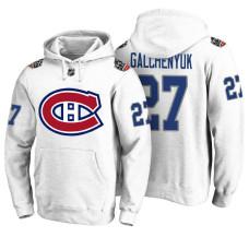 Montreal Canadiens #27 Alex Galchenyuk White 100 Classic Pullover Hoodie
