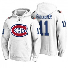Montreal Canadiens #11 Brendan Gallagher White 100 Classic Pullover Hoodie