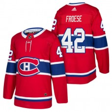 Montreal Canadiens #42 Byron Froese Red 2018 New Season Player Home Jersey