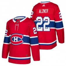 Montreal Canadiens #22 Karl Alzner Red 2018 New Season Player Home Jersey