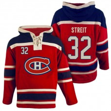 Montreal Canadiens #32 Mark Streit Red Throwback Pullover Hoodie