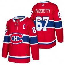 Montreal Canadiens #67 Max Pacioretty Red 2018 New Season Home Authentic Jersey With Anniversary Patch