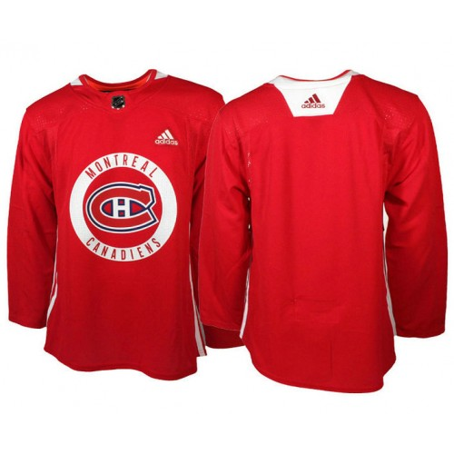 Montreal Canadiens Red Adidas Pro Authentic Practice Jersey