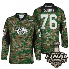 Nashville Predators #76 P.K. Subban Camo 2017 Stanley Cup Final Military Appreciation Premier Jersey