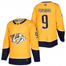 Nashville Predators #9 Filip Forsberg Gold 2018 New Season Home Authentic Jersey