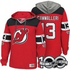 New Jersey Devils #13 Michael Cammalleri Red Anniversary Classic Patch Hoodie