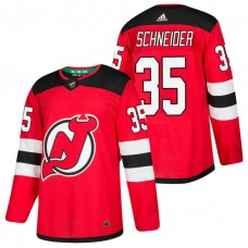 New Jersey Devils #35 Cory Schneider Red 2018 New Season Home Authentic Jersey
