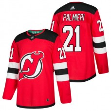 New Jersey Devils #21 Kyle Palmieri Red 2018 New Season Home Authentic Jersey