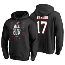 New Jersey Devils #17 Patrick Maroon Black 2018 Stanley Cup Playoffs Hoodie