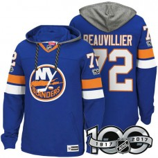 New York Islanders #72 Anthony Beauvillier Royal 2017 Anniversary Patch Hoodie