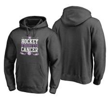 New York Islanders Ash Hockey Fights Cancer Cross Check Hoodie