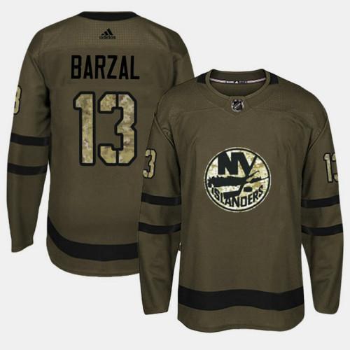 online retailer c2f2d 1fbe0 New York Islanders #13 Camo Salute To Service Mathew Barzal ...