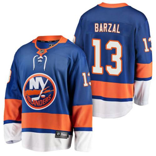 cc1ce9050 New York Islanders  13 Breakaway Player Mathew Barzal Jersey Royal