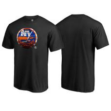 New York Islanders Black Crew Neck Midnight Mascot Team T-shirt