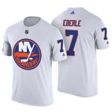 New York Islanders #7 Jordan Eberle White Adidas Player Jersey Style T-shirt