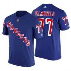 New York Rangers #77 Tony DeAngelo Royal Adidas Player Jersey Style T-shirt