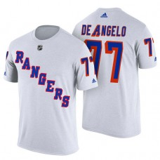 New York Rangers #77 Tony DeAngelo White Adidas Player Jersey Style T-shirt