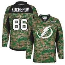 Lightning #86 Nikita Kucherov Camo Veterans Day Premier Jersey
