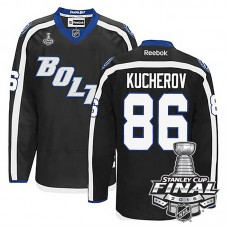 Tampa Bay Lightning Nikita Kucherov #86 Black 2016 Stanley Cup Alternate Finals Jersey