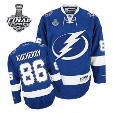 Tampa Bay Lightning Nikita Kucherov #86 Royal Blue 2015 Stanley Cup Home Jersey