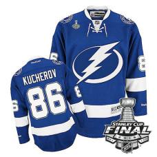 Tampa Bay Lightning Nikita Kucherov #86 Blue 2016 Stanley Cup Home Finals Jersey