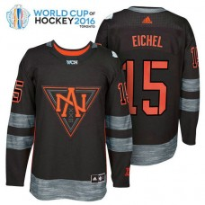 Ice Hockey Jack Eichel #15 Black 2016 World Cup Premier Player Jersey