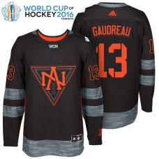 North America Team #13 Johnny Gaudreau 2016 World Cup of Hockey Black Jersey