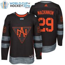 North America Team #29 Nathan Mackinnon 2016 World Cup of Hockey Black Jersey