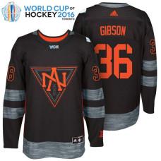 North America Team #36 John Gibson 2016 World Cup of Hockey Black Jersey