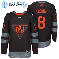 North America Team #8 Jacob Trouba 2016 World Cup of Hockey Black Jersey