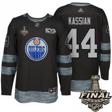 Edmonton Oilers #44 Zack Kassian Black 2017 Stanley Cup Final 100th Classic Limited Fashion Jersey