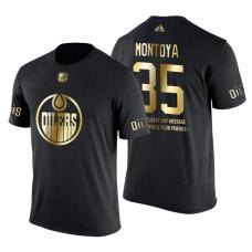 Edmonton Oilers Al Montoya Gold Limited with Message T-Shirt Black