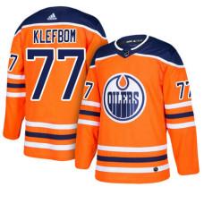 Edmonton Oilers #77 Oscar Klefbom Orange Home Jersey