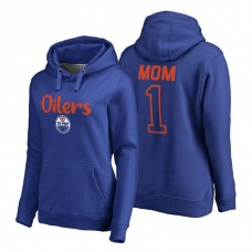 Edmonton Oilers 2018 Fanatics Mother's Day Number 1 Mom Pullover Hoodie Royal