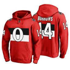 Ottawa Senators #14 Alexandre Burrows Red 100 Classic Pullover Hoodie