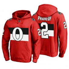Ottawa Senators #2 Dion Phaneuf Red 100 Classic Pullover Hoodie