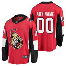Ottawa Senators 2018 Fanatics Branded Custom Jersey Red