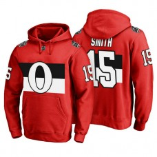 Ottawa Senators #15 Zack Smith Red 100 Classic Pullover Hoodie