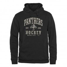 Florida Panthers Black Camo Stack Fleece Pullover Hoodie