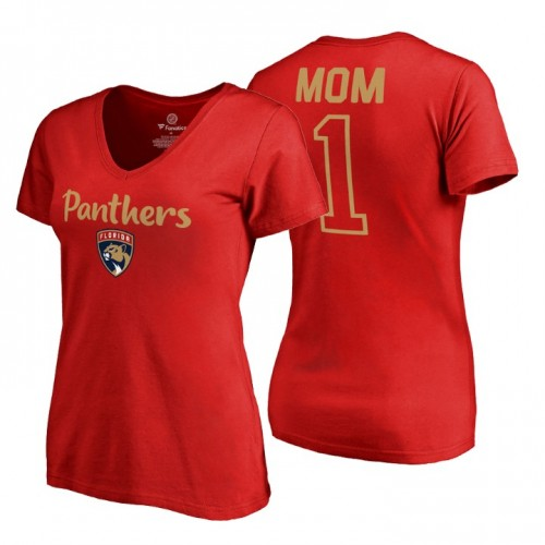 Florida Panthers 2018 Fanatics Mother's Day Number 1 Mom T-Shirt Red
